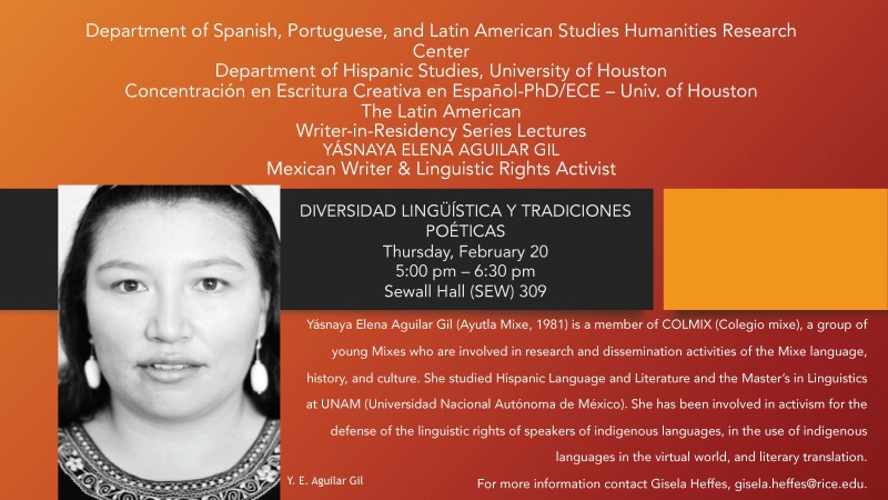 The Latin American Writer-in-Residency Series Lectures