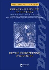 "Campana, Joseph. ""Distribution, Assemblage, Capacity: New Keywords for Masculinity?"" European Review of History: Revue Européenne D'histoire 22.4 (2015): 691-97"